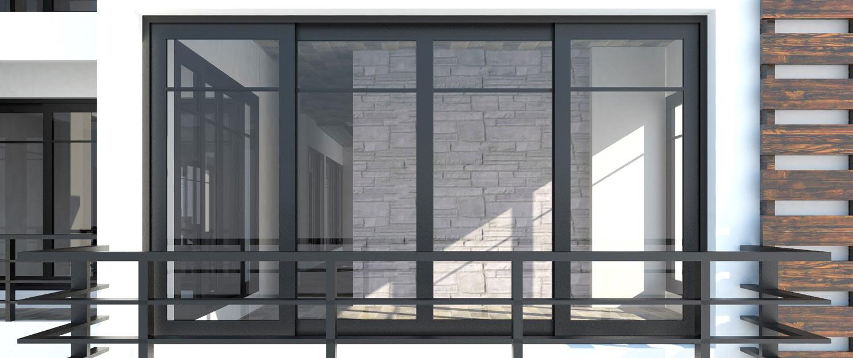 mtm, serrurerie métallerie à Monts (Indre et Loire) : Réalisation d'un mur avec fenêtre en acier