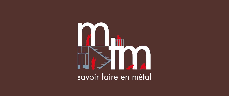 Bandeau avec logotype de mtm, serrurerie-métallerie à Monts